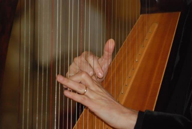 Arpa-instrumento-de-cuerda-punteada